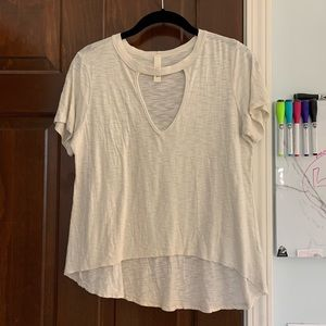 short sleeve shirt with cut-out